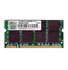 SODIMM DDR 1GB 333MHz TRANSCEND 2Rx8, CL2.5