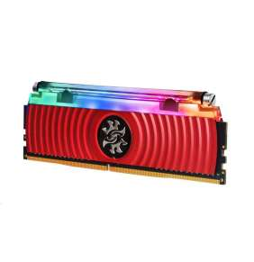 DIMM DDR4 8GB 4133MHz CL16 (KIT 1x8GB) ADATA SPECTRIX D80 RGB, Hybrid Cooling, Bulk, Red