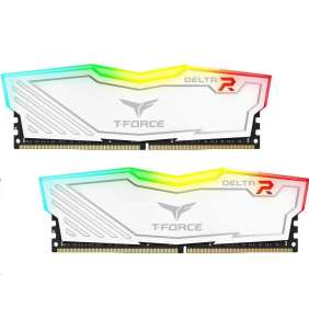 DIMM DDR4 16GB 3000MHz, CL16, (KIT 2x8GB), T-FORCE Delta RGB (White)