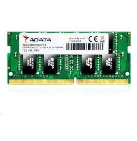 SODIMM DDR4 16GB 2400MHz CL17 ADATA Premier memory, 1024x8, Single