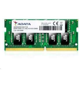 SODIMM DDR4 4GB 2400MHz CL17 ADATA Premier memory, 512x16, Bulk