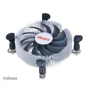 AKASA chladič CPU / AK-CC7122BP01 / Intel 775,1156, 1150, 1155 / Mini-ITX / výška 26mm