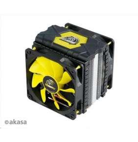 AKASA chladič CPU VENOM VOODOO pro patice LGA 775,115x, 1366, 2011, Socket AMx, FMx, měděné jádro, 120mm PWM ventilátor