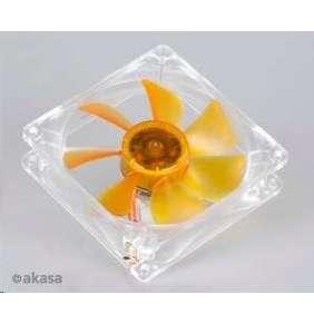 ventilátor Akasa - 9 cm - Amber - ultra tichý