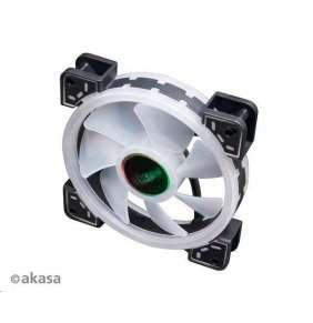 AKASA LED ventilátor Vegas TLX / AK-FN101 / 120mm / 3pin FAN / 3pin RGB LED / RGB LED