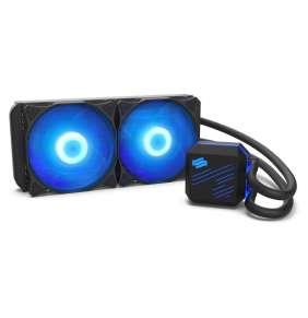 SilentiumPC vodní chladič Navis RGB 240 AiO / 2x120mm fan / 22dBA / pro AM3, AM4, LGA 2066, 2011, 1155, 1151, 1156, 1366