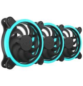 SilentiumPC sada přídavných ventilátorů Sigma HP Corona RGB 120 3-pack / 3x 120mm fan / RGB LED / ultratichý