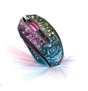 CONNECT IT DOODLE herní myš, LED podsvícení, 2000DPI, 6 tlačítek, USB