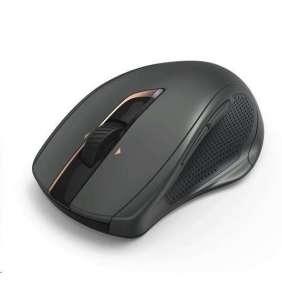 HAMA myš MW-800/ bezdrátová/ laserová/ tichá/ auto DPI 800-2400/ 7 tlačítek/ USB/ černá