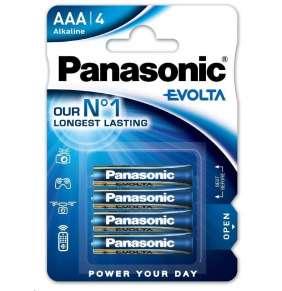 PANASONIC Alkalické baterie EVOLTA Platinum LR03EGE/4BP AAA 1,5V (Blistr 4ks)