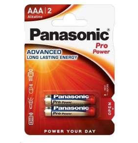 PANASONIC Alkalické baterie Pro Power LR03PPG/2BP AAA 1,5V (Blistr 2ks)
