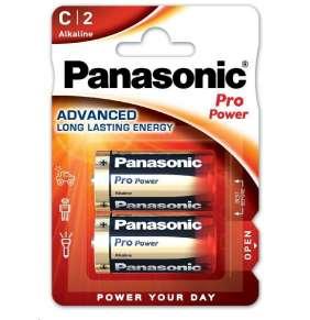 PANASONIC Alkalické baterie Pro Power LR14PPG/2BP C 1,5V (Blistr 2ks)