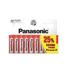 PANASONIC Zinkouhlíkové baterie Red Zinc R6RZ/10HH AA 1,5V (Blistr 10ks)
