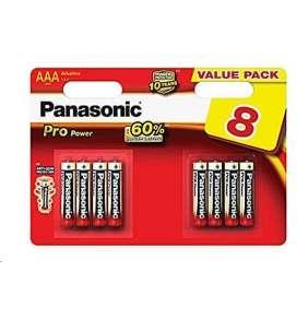 PANASONIC Alkalické baterie Pro Power LR03PPG/8BW AAA 1,5V (Blistr 8ks)