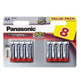PANASONIC Alkalické baterie Everyday Power  LR6EPS/8BW AA 1,5V (Blistr 8ks)