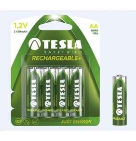 Tesla AA RECHARGEABLE+ nabíjecí Ni-MH 2450 mAh, 4 ks