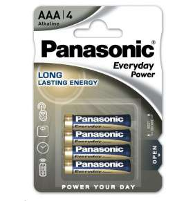 PANASONIC Alkalické baterie Everyday Power  LR03EPS/4BP AAA 1,5V (Blistr 4ks)