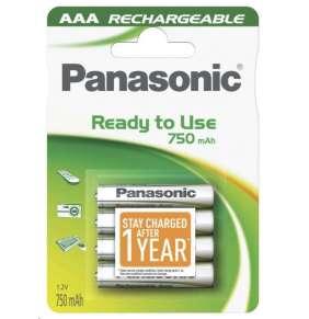 PANASONIC Nabíjecí baterie (Ready to Use - pro Časté použití) HHR-4MVE/4BC   750mAh AAA 1,2V (Blistr 4ks)