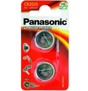 PANASONIC Lithiová baterie (knoflíková) CR-2025EL/2B  3V (Blistr 2ks)