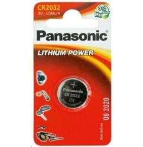 PANASONIC Lithiová baterie (knoflíková) CR-2032EL/1B  3V (Blistr 1ks)