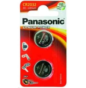 PANASONIC Lithiová baterie (knoflíková) CR-2032EL/2B  3V (Blistr 2ks)