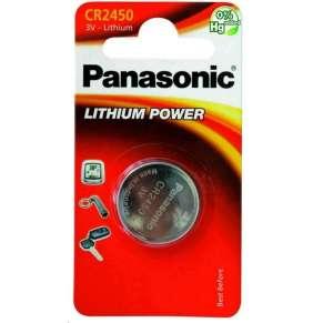 PANASONIC Lithiová baterie (knoflíková) CR-2450EL/1B  3V (Blistr 1ks)
