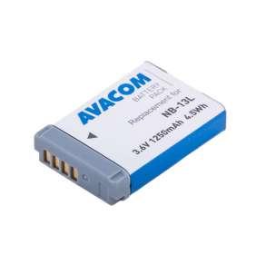 Náhradní baterie AVACOM Canon NB-13L Li-Ion 3.6V 1250 mAh 4.5Wh