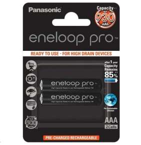 PANASONIC eneloop Pro Nabíjecí Baterie AAA 930mAh 1,2V  HR-4UWXB-2BP (Blistr 2ks)