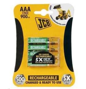 JCB RTU NiMH AAA/R03, 900mAh, přednabitá, blistr 4 ks