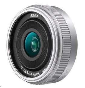 Panasonic LUMIX G 14mm F2,5 II. ASPH. strieborný