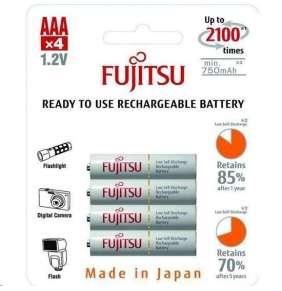 Fujitsu nabíjecí baterie White R03/AAA, 750 mAh, 2100 nabíjecích cyklů, blistr 4ks