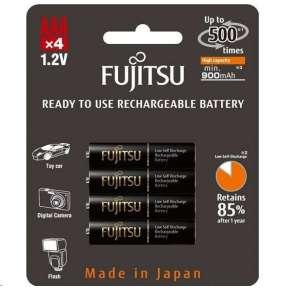 Fujitsu nabíjecí baterie BLACK R03/AAA, 900 mAh, 500 nabíjecích cyklů, blistr 4ks