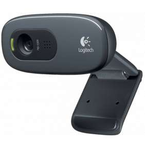Logitech HD webkamera C270/ 1280x720/ 3MPx/ USB/ šedá