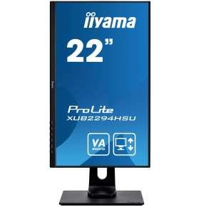 "22"" iiyama XUB2294HSU-B1: VA, FullHD@75, 250cd/m2, 4ms, VGA, HDMI, DP, USB, height, pivot, černý"