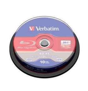 VERBATIM BD-RE SL(10-pack)Blu-Ray/spindle/2x/25GB
