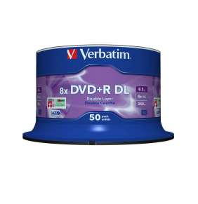 VERBATIM DVD+R(50-pack)/Double Layer/Spindle/ 8X 8.5GB Matt Silver