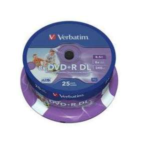 VERBATIM DVD+R Double Layer 8.5GB 8X 50 Pack Spindle