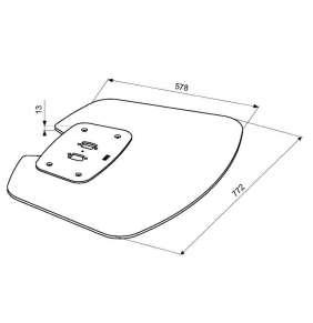 PFF7020S podstavec Connect-it Floor stříbrný