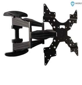 4World Otočný a sklopný držiak pre LCD 32''-50'' nosnosť max 50kg BLK