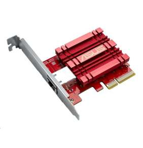 ASUS XG-C100C, Síťový adapter 10GBase-T PCIe se zpětnou kompatibilitou 5/2,5/1G a 100Mb/s  RJ45 port a integrovaný QoS