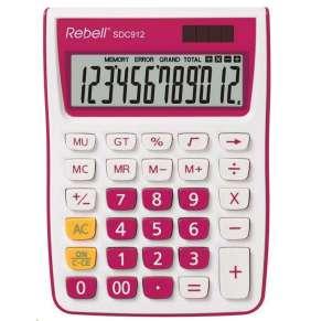 REBELL kalkulačka - SDC912 PK - růžová