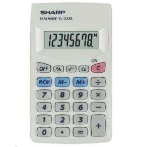 SHARP kalkulačka - EL-233S - Bílá
