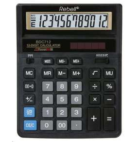 Rebell kalkulačka - stolní - BDC712 GL