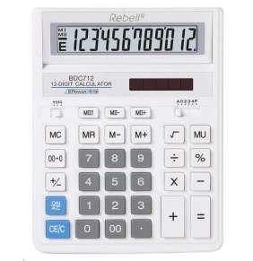 Rebell kalkulačka - stolní - BDC712 WH