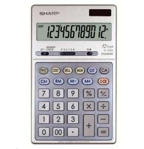 SHARP kalkulačka - EL-339H - stříbrná