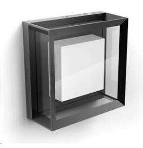 PHILIPS Econic Venkovní nástěnné svítidlo, čtverec, White and Color Ambience, integr.LED, Antracit