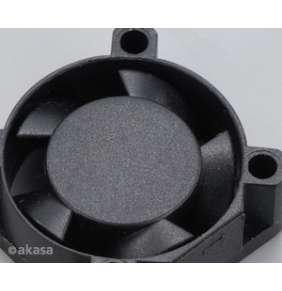 AKASA ventilátor AK-189BK-2B, 25x25x10mm, 2 pins, 2x kuličkové ložisko