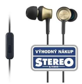 SONY MDR-EX650AP Sluchátka do uší s mikrofonem, rozsah 20 až 28000 Hz
