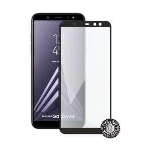 Screenshield ochrana displeje Tempered Glass pro SAMSUNG A600 Galaxy A6 (full cover), černá
