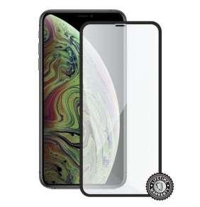Screenshield ochrana displeje Tempered Glass pro Apple iPhone Xs Max, (full cover), černá
